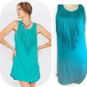 Sugarlips Mint Fringe shift dress from Dillard's